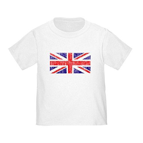 CafePress Vintage Union Jack Toddler T-Shirt Cute Toddler T-Shirt, 100% Cotton White