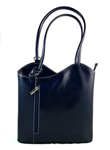 Ladies handbag petrol blue leather bag clutch hobo bag backpack crossbody women bag made in Italy by ItalianHandbags