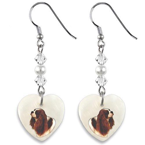 Watch Cavaliers Heart (Timest Cavalier King Charles Spaniel Mother Of Pearl Heart Earrings)