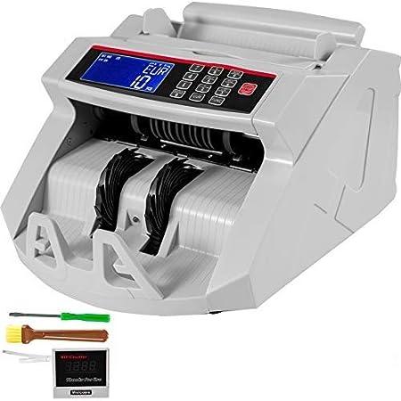 VEVOR Contador de Billetes 1000 pcs por Minuto con Pantalla LCD para Uso Doméstico y Comercial 2819 para Contar y Verificar Billetes Contador Electrónico de Billetes