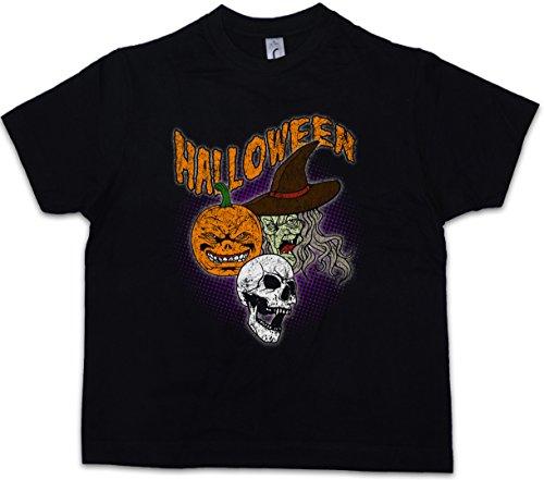 Urban Backwoods Halloween Faces Kids Boys Children T-Shirt Black ()