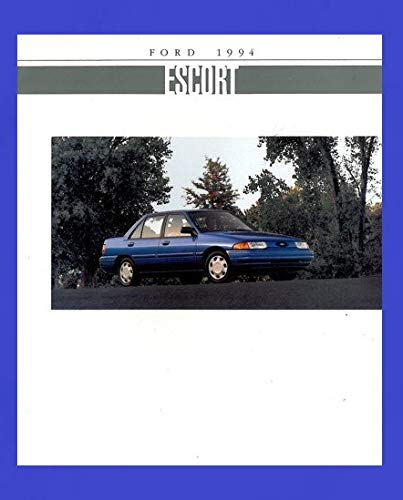 - 1994 FORD ESCORT, ESCORT LX & ESCORT GT PRESTIGE VINTAGE COLOR SALES BROCHURE - 3/90 - USA - FANTASTIC ORIGINAL !!