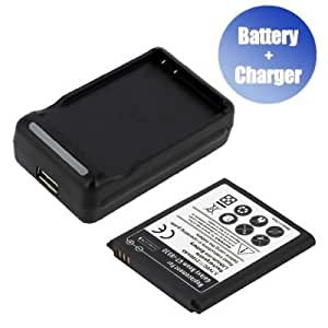 Battpit™ New Replacement Mobile / SmartPhone / Cell Phone Battery + Charger (With USB Output) for Samsung GT-i8550 (2100 mAh) (Ship From Canada)