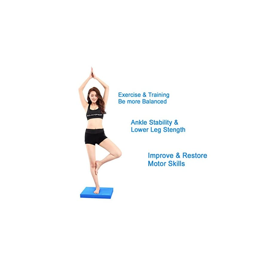 Sportneer Balance Pad X Large Foam Balance Board Pads for Yoga Exercise Stability Training Therapy, Non Slip and Sweat Proof