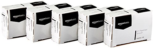 AmazonBasics No. 1 Paper Clips, Smooth, 100 Clip per Box, 10-Pack ()