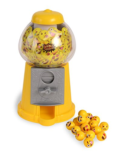 Emoji Gumball Machine; Gumball Bank with Starter Gumballs