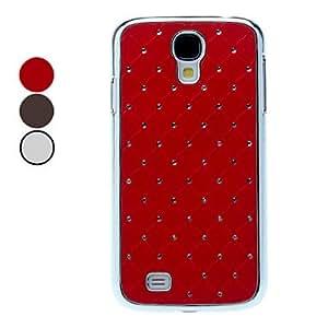 MOFY-S—lido estuche r'gido de color con Rhinestone para Samsung Galaxy S4 i9500 (colores surtidos) , Rojo