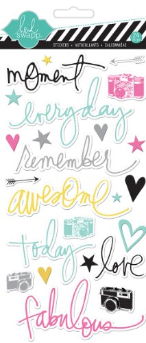Heidi Swapp Chipboard Moments Stickers, Bright ()