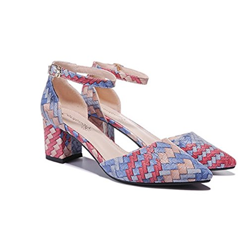 Primavera Mezclados Plataforma Sandalias De De De Tacón Mujer Blue De Cuadrado Zapatos Agua A Zapatos Hebilla Prueba Colores De Mujer ztqxF4gEw