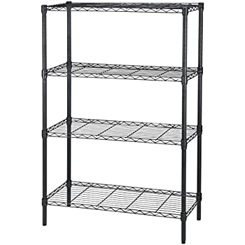 salsbury industries stationary wire shelving. Black Bedroom Furniture Sets. Home Design Ideas