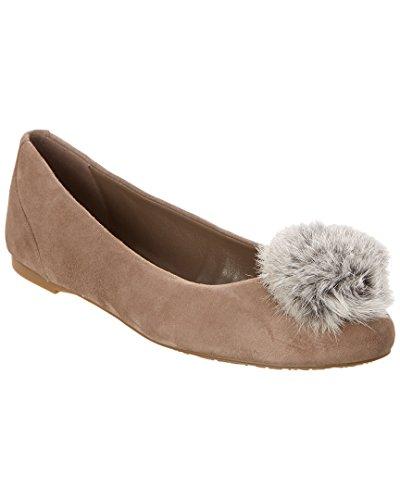 (Michael Michael Kors Women's Remi Fur Pom Pom Ballet Flats (7.5 B (M) US, Gray))