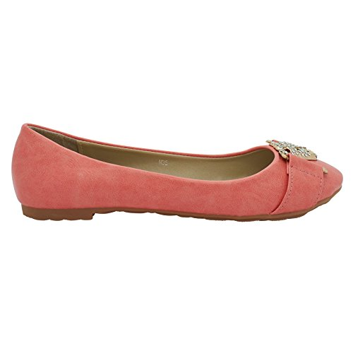 Ballet Women's Alyssa Watermelon Flats Footwear London qE0CxwZtnW