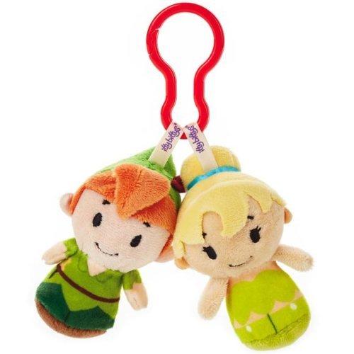 New Hallmark itty bittys Clippys Disney Plush Peter Pan, Tinkerbell Fairy ()
