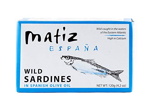 Matiz España Sardines in Olive Oil, 4.2-Ounce (Pack of 5)