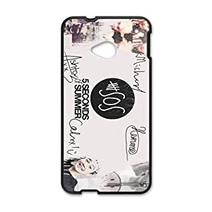 5 Seconds Of Summer Fashion Comstom Plastic case cover For HTC One M7