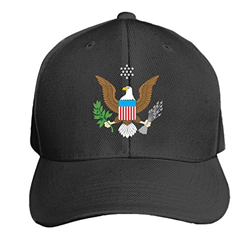 (Eagle American Emblem Freedom Bird Unisex Washed Twill Baseball Cap Adjustable Peaked Sandwich Hat)