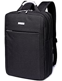 Leaper Water Resistant Business Laptop Backpack School Bag Travel Daypack Fits 15.6 Inch Laptops Black