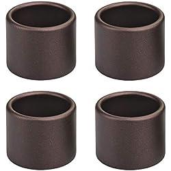 mDesign Stainless Steel Napkin Rings for Dinner, Luncheons, Weddings - Pack of 4, Bronze