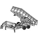 14HDGN Trailer Plan - 6'4' x 14' Tandem Axle 14K Gooseneck Dump Trailer DIY How-to Blueprint