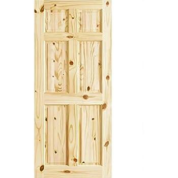 6 Panel Colonial Double Hip Knotty Clear Pine Interior Door Slab (30x80)  sc 1 st  Amazon.com & Amazon.com: 6 Panel Colonial Double Hip Knotty Clear Pine Interior ...