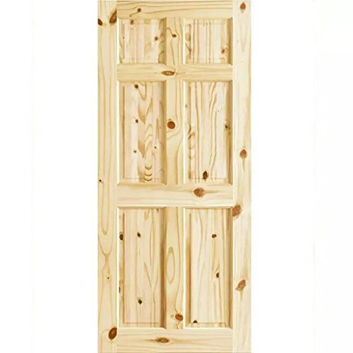 (6 Panel Colonial Double Hip Knotty Clear Pine Interior Door Slab (28x80))