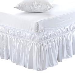 MEILA Bed Skirt Three Fabric Sides Elast...