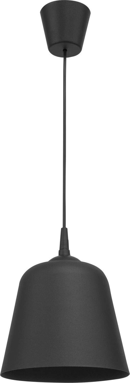 JULMA Retro Lampe à suspension ronde Noir Ø 20 cm