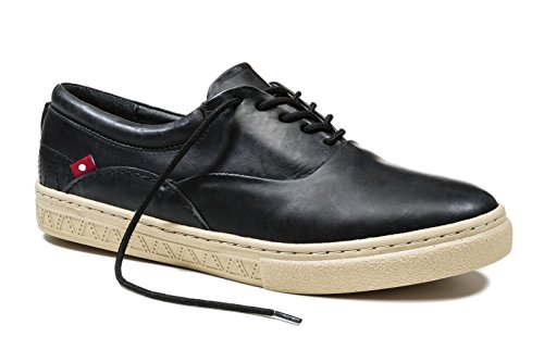 Oliberte Men's Zabilo Black Grey Pullup 41/8/11 Fashion Sneaker by Oliberte