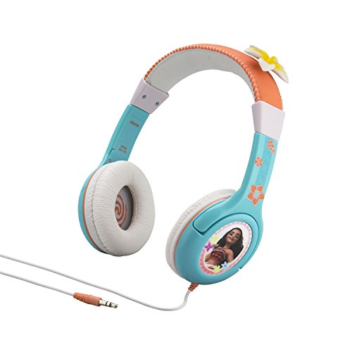 Moana Kid Friendly Headphones with Built in Volume Limiting Feature for Safe Listening