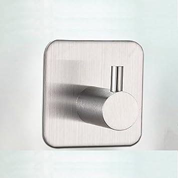 Burdy - Colgador de Pared para baño, de Acero Inoxidable, Pegado en Toalla Adhesiva