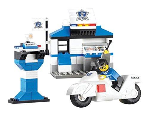 Sluban Building and Construction Blocks M38 B0272 City Police Station Building Block Construction Set  86 Piece