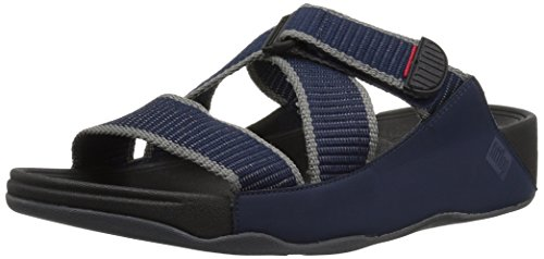 Felpa Da Uomo Fitflop Ii Slide Sandalo Con Cinturino Midnight Navy / Carboncino