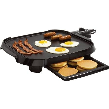 Faberware Family-Size 14'' x 14'' Griddle, Black by Farberware