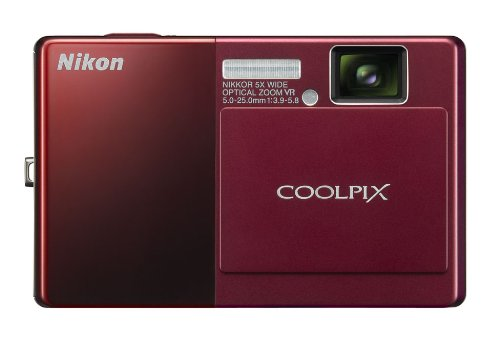 Oled Screen Touch 3.5 - Nikon Coolpix S70 12.1MP Digital Camera with 3.5-inch OLED Touch Screen and 5x Wide Angle Optical Vibration Reduction (VR) Zoom (Red)