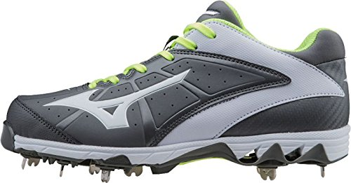 Mizuno Mujeres 9 Spike Swift 4 Fast Pitch Metal Softball Cleat Gris-blanco