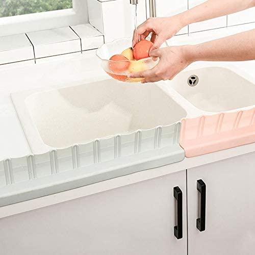 AYRSJCL 1Pc Grey Kitchen Sink Baffle Waterproof Washing Vegetable Fruit Protector Tools With Suction Cups Sink Water Baffle