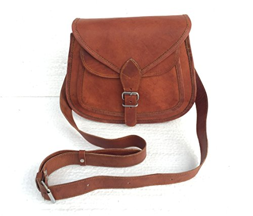 Universal Leather Women's Distressed Leather Crossbody Handbag 10 X 3 X 8 Inches Brown - Brown Womens Bag