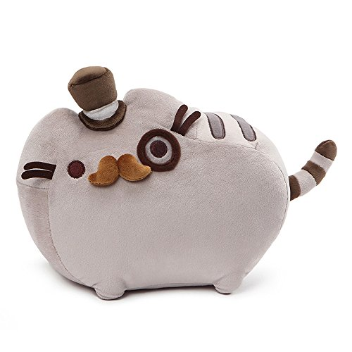 GUND Pusheen Fancy Cat Plush Stuffed Animal, Gray, 12.5