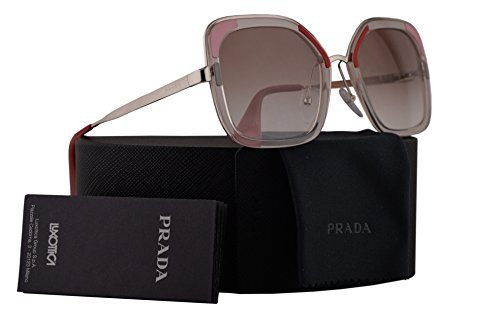 Prada PR57US Sunglasses Transparent Brown w/Clear Gradient Brown 54mm Lens LOH1L0 SPR57U PR 57US SPR 57U