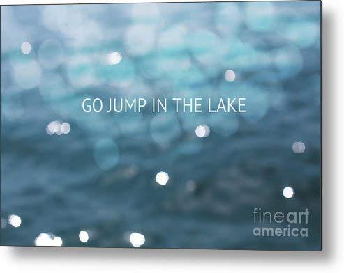 KPSheng Go Jump in The Lake Metal Sign 12x8