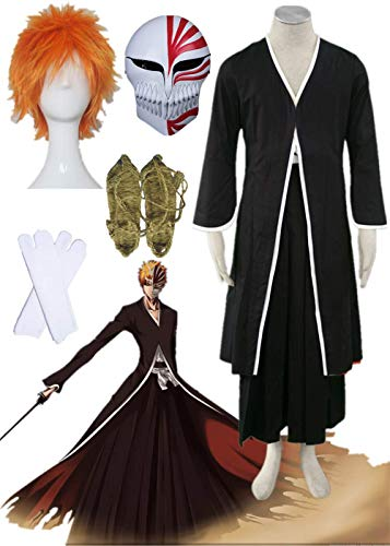 YOUYI Bleach Kurosaki Ichigo Halloween Cosplay Costume Halloween Full Suit (Male 3XL) Black ()