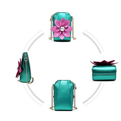 Women Flower Shoulder Crossbody Purse Cozywind Leather White Flower Bag Cellphone Pouch Small q6gU4fOa