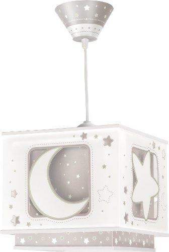 Dalber Fluoreszierende Hängelampe Mond und Stern, braun 63232E
