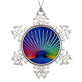 Hipporal Tree Branch Decoration Slinky Rainbow-colored slinky toy Garden Snowflake Ornament