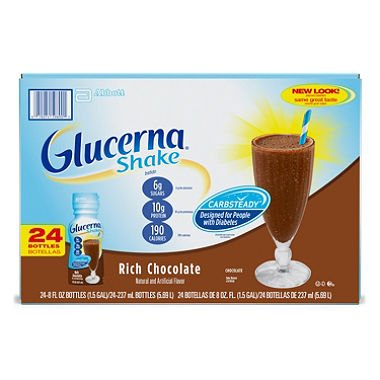 Glucerna Shakes Rich Chocolate Shake (8 fl. oz., 24 ct.)-2 PACKS