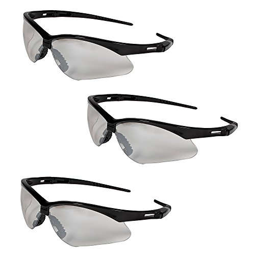 Jackson Safety V30 25685 Nemesis Safety Glasses 3000357 (3 Pair) (Black Frame with Indoor/Outdoor Lens) by Jackson Nemesis