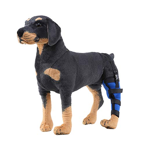 Tutuba Dog Left Rear Leg Brace, Dog Compression Sleeve Wrap Puppy Injury Rear Leg Hock Brace Support Joints,Protect for Wound Healing, Prevent for Leg Warp