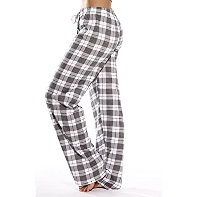 Just Love 100% Cotton Jersey Women Plaid Pajama Pants Sleepwear at Women's Clothing store