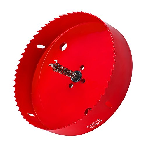 Hex Saw Blade - 6 Inch Hole Saw for Making Cornhole Boards - Heavy Duty Steel - Corn Hole Drilling Cutter & Hex Shank Drill Bit Adapter for Cornhole Game