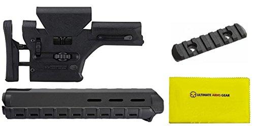 Magpul MAG307 MAG 307 PRS Black + MAG419 MAG 419 MOE Black + MAG407 MAG 407 MOE Black + Ultimate Arms Gear Silicone Cloth